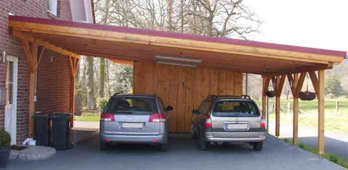Freestanding wooden carport plans