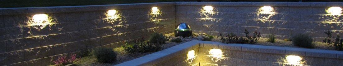 Carport Mauer Beleuchtung