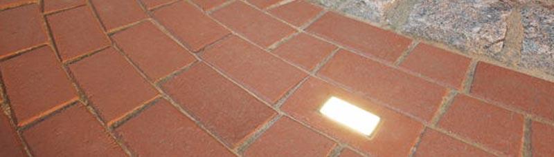 Carport Weg Pflaster Beleuchtung