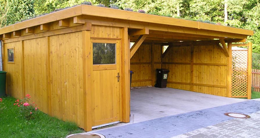 carport mit ger teschuppen carport ratgeber. Black Bedroom Furniture Sets. Home Design Ideas