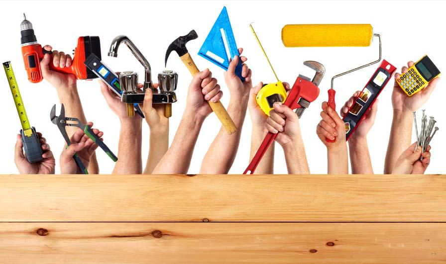 Werkzeug zum Carport bauen