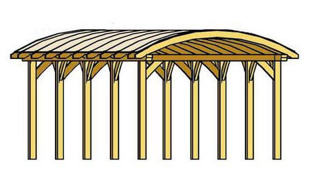 Carport mit Bogendach - Beispiel